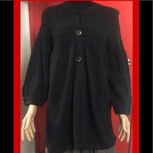EIGHT EIGHT EIGHT Womens Black Sweater Outerwear